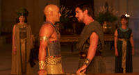 Joel Edgerton as Ramses and Christian Bale as Moses in