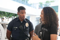 Nate Parker and director Gina Prince-Bythewood on the set of