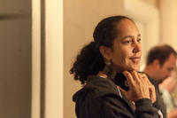 Director Gina Prince-Bythewood on the set of