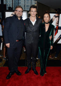 Director Aleksander Bach, Rupert Friend and Hannah Ware at the New York premiere of