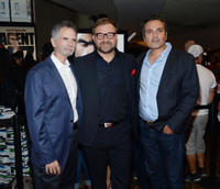 Aleksander Bach, Charles Gordon and Adrian Askarieh at the New York premiere of