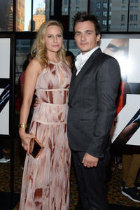 Aimee Mullins and Rupert Friend at the New York premiere of