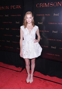 Emily Coutts at the New York premiere of