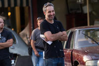 Director Rob Letterman on the set of