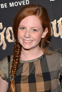 Clare Foley at the New York premiere of