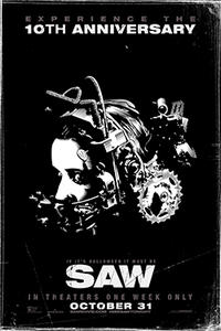 Saw 10th Anniversary poster