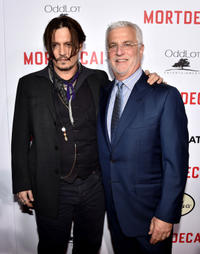 Johnny Depp and Rob Friedman at the California premiere of