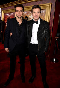 Guy Burnet and Ewan McGregor at the California premiere of