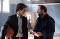 Mark Wahlberg and director Rupert Wyatt on the set of