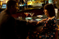 Dennis Haysbert as Secretluvur and Rosemarie DeWitt as Helen Truby in