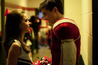 Katherine Hughes as Brooke Benton and Travis Tope as Chris Truby in