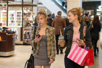 Olivia Crocicchia as Hannah Clint and Judy Greer as Donna Clint in