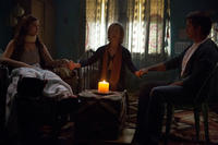 Stefanie Scott as Quinn Brenner, Lin Shaye as Elise Rainier and Dermot Mulroney as Sean Brenner in