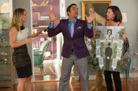 Kaley Cuoco-Sweeting as Gretchen Palmer, Ignacio Serricchio as Edmundo and Mimi Rogers as Lois Palmer in