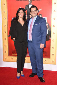 Ida Darvish and Josh Gad at the California premiere of