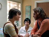 Michelle Sinclair, Maya Rudolph and Joaquin Phoenix in