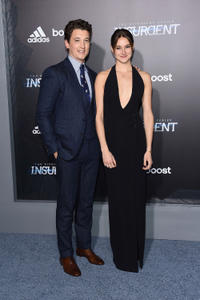 Miles Teller and Shailene Woodley at the New York premiere of