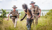 Fiona Lanyon, David Gulpilil and Luke Ford in