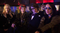 Aymeline Valade as Betty Catroux, Lea Seydoux as Loulou De Falaise and Gaspard Ulliel as Yves Saint Laurent in