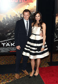 Liam Neeson and Famke Janssen at the New York screening of