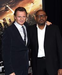 Liam Neeson and Forest Whitaker at the New York screening of