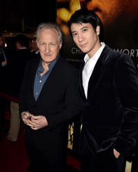 Michael Mann and Leehom Wang at the California premiere of