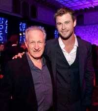 Michael Mann and Chris Hemsworth at the California premiere of