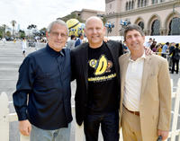 Ron Meyer, Chris Meledandri and Jeff Shell at the California premiere of