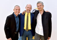 Kyle Balda, Chris Renaud and Pierre Coffin at the California premiere of