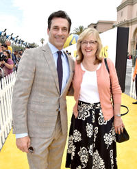 Jon Hamm and Janet Healy at the California premiere of