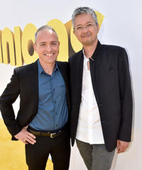 Kyle Balda and Pierre Coffin at the California premiere of