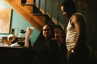Director/executive producer Ava DuVernay and David Oyelowo on the set of