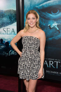 Taylor Louderman at the New York premiere of