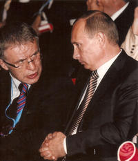 Viacheslav Fetisov and Vladimir Putin in