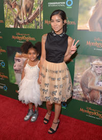 Namiko Love Browner and Jhene Aiko at the California world premiere of