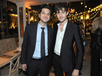 Ben Schwartz and Cesar Domboy at the world premiere after party of