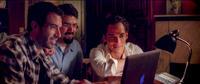 "Tom Cullen as Ardi, Bamshad Abedi-Amin as Mehran and Reece Ritchie as Afshin in ""Desert Dancer."""