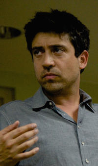 Director Alfonso Gomez-Rejon on the set of