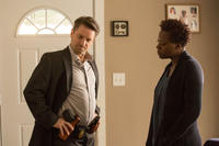 Shea Whigham as detective Holliston and Viola Davis as Lila in