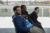 Seth Rogen as Isaac, Anthony Mackie as Chris Roberts and Joseph Gordon-Levitt as Ethan in