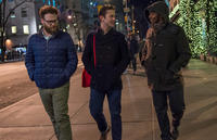 Seth Rogen as Isaac, Joseph Gordon-Levitt as Ethan and Anthony Mackie as Chris Roberts in