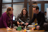 Ann Dowd as Nell, Zoe Kazan as Leblanc and Scoot Mcnairy as Buckley in