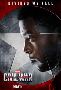 Black Panther in Captain America: Civil War poster