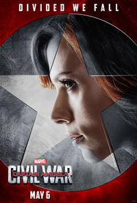 Black Widow in Captain America: Civil War poster