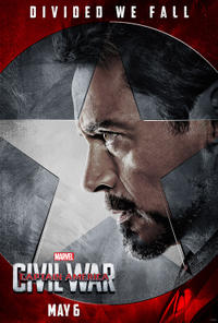 Iron Man in Captain America: Civil War poster