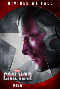 The Vision in Captain America: Civil War poster