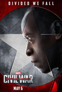 War Machine in Captain America: Civil War poster