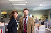 Natalie Saleeba as Mary Murphy and Topher Grace as Mike Smith in