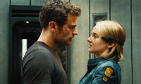 Theo James as Four and Shailene Woodley as Tris in