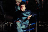 Director Jia Zhangke on the set of